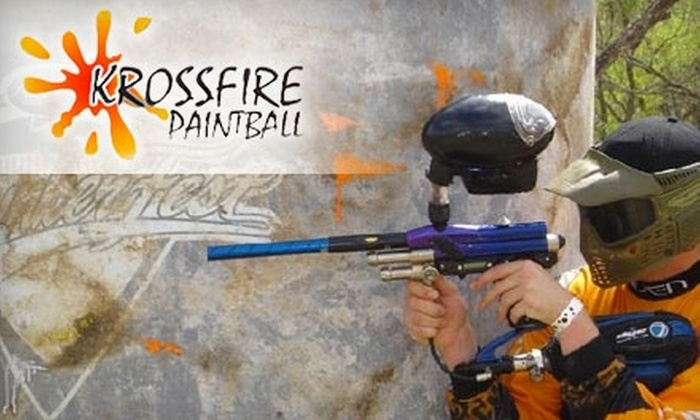 Krossfire Paintball - East Central San Antonio: $11 for One Day Of Paintball Plus Equipment Rental and Paint at Krossfire Paintball ($25 Value)