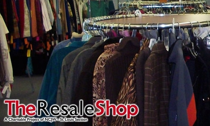 The Resale Shop - University City: $10 for Gently Used Apparel, Accessories, or Housewares at The Resale Shop