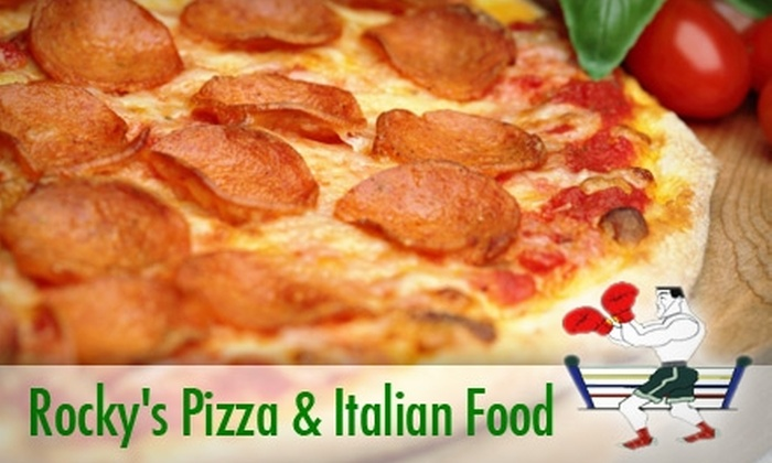 Rocky's Pizza and Italian Food - Five Points South: $12 for a Large Power Punch Specialty Pizza from Rocky's Pizza and Italian Food ($26.25 Value)