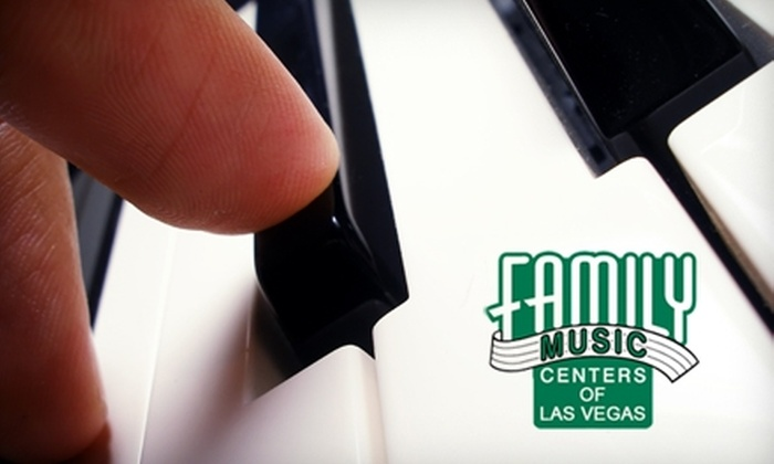 Family Music Centers - Multiple Locations: $49 for Four Private Music Lessons at Family Music Centers of Las Vegas ($116 Value)