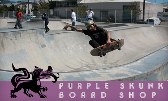 Purple Skunk Board Shop - Central Richmond: $15 for $30 Worth of Skate Gear and Services at Purple Skunk Board Shop