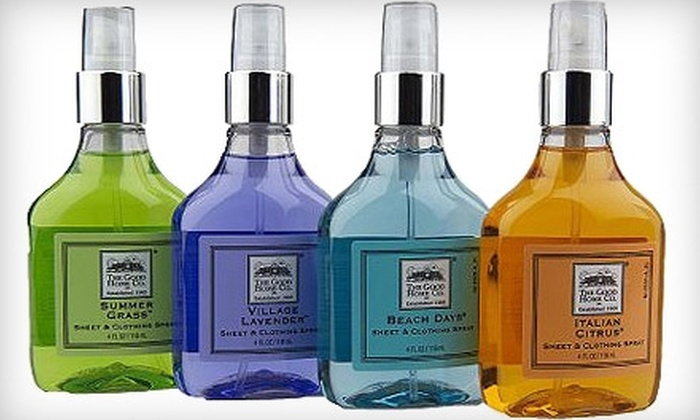 The Good Home Company - Chelsea: $20 for Sheet and Clothing Spray Set at The Good Home Company
