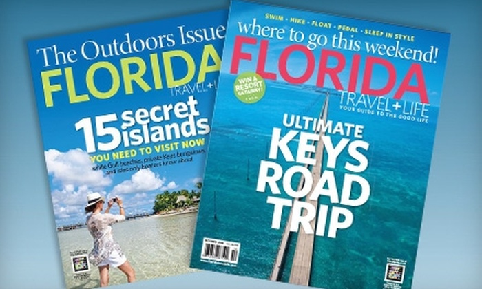 """Florida Travel + Life"" Magazine - Tampa Bay Area: $6 for a One-Year Subscription to ""Florida Travel + Life"" Magazine ($11.97 Value)"