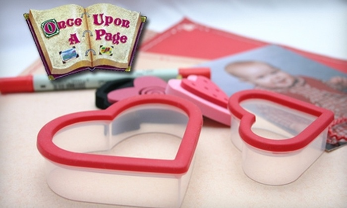 Once Upon A Page - Burbank: $10 for a Scrapbook Beginner Class ($20 Value) or $20 for Four Scrapbooking Workshops ($40 Value) at Once Upon A Page