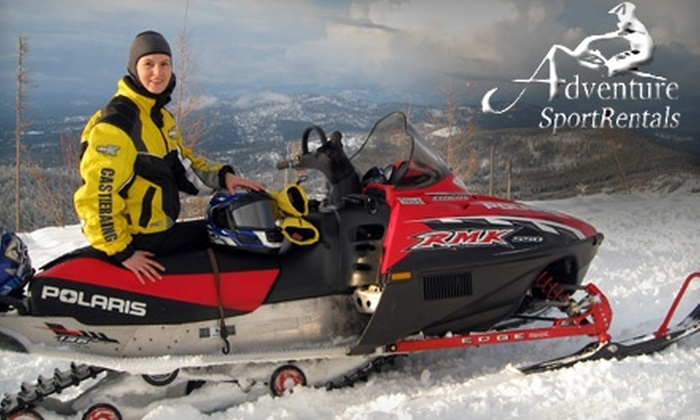 Adventure Sport Rentals - Mount Spokane: $60 for a Two-Hour, Single-Seat Snowmobile Rental from Adventure Sport Rentals ($119 Value)