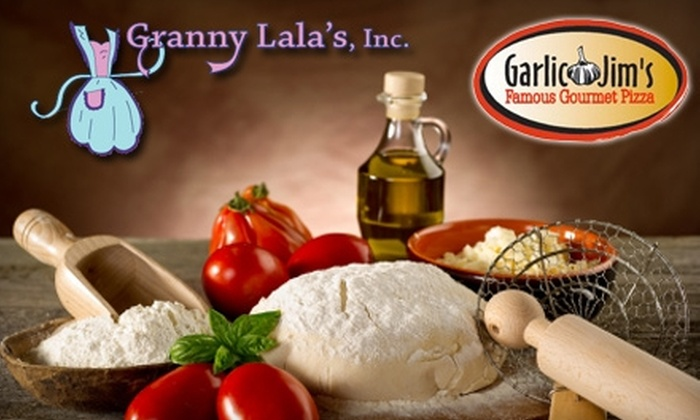 Garlic Jim's Famous Gourmet Pizza - North End: $15 for XL Specialty Pizza or Large Gluten-Free Specialty Pizza, Plus Chocolate Brownie Pizza at Garlic Jim's Famous Gourmet Pizza ($32 Value)