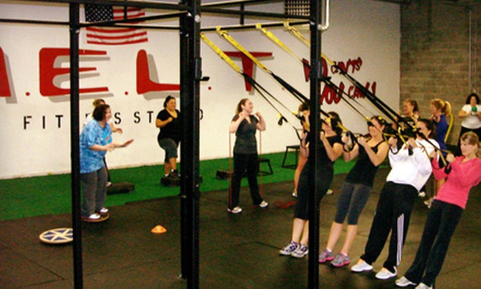 M.E.L.T. Fitness Studio - Multiple Locations: 10 or 20 Group Fitness Classes or One Youth Speed Clinic at M.E.L.T. Fitness Studio (Up to 83% Off)