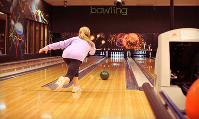 eSkape Entertainment Center - Buffalo Grove: Bowling Outing for Up to Six at eSkape Entertainment Center in Buffalo Grove (Up to 72% Off). Two Options Available.