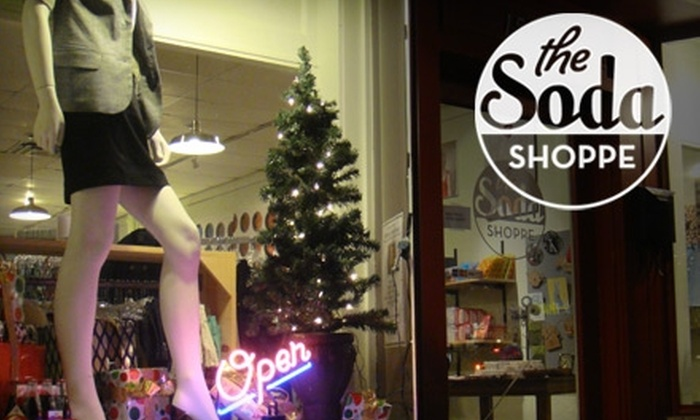 The Soda Shoppe - Forest Park South: $15 for $30 Worth of Specialty Soda, Boutique Clothing, and More at The Soda Shoppe