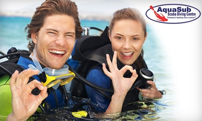 "AquaSub Scuba Diving Centre - Richmond Hill: $30 for a ""Discover Scuba"" Lesson at AquaSub Scuba Diving Centre ($60 Value)"