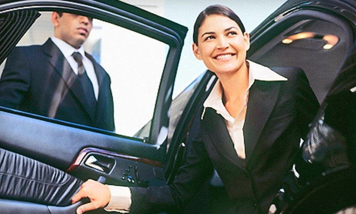 Denver Crown Limousine - Central Business District: One-Way or Roundtrip Airport Transportation from Denver Crown Limousine (Up to 60% Off). Four Options Available.