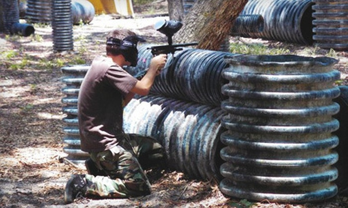 Central Florida Paintball - Fox Branch Estates: All-Day Paintball Outing with Equipment and Paintballs for 2 or 10 at Central Florida Paintball in Lakeland (Up to 55% Off)
