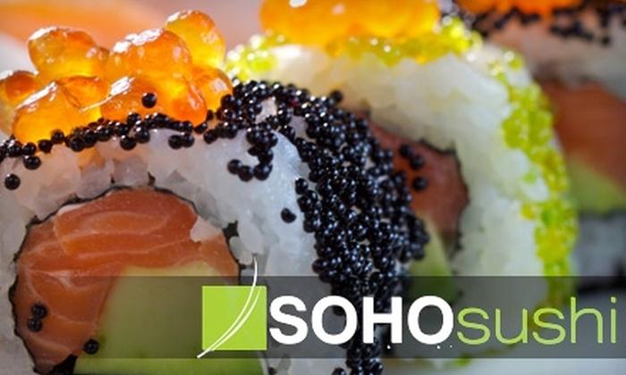 Soho Sushi - Central Business District: $6 for $12 Worth of Sushi at Soho Sushi