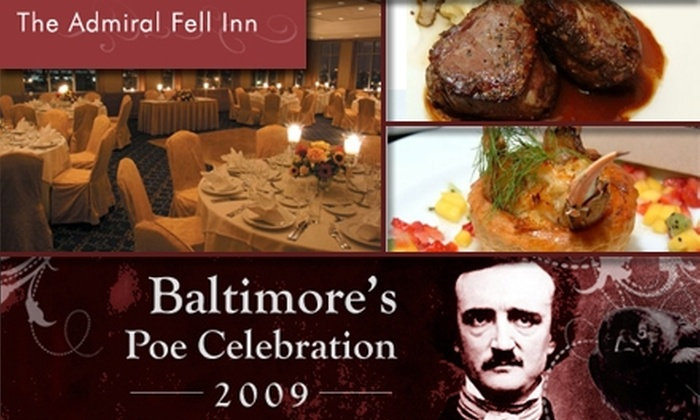 Admiral Fell Inn - Baltimore: $37 for Four-Course Dinner with Edgar Allen Poe ($75 Value)