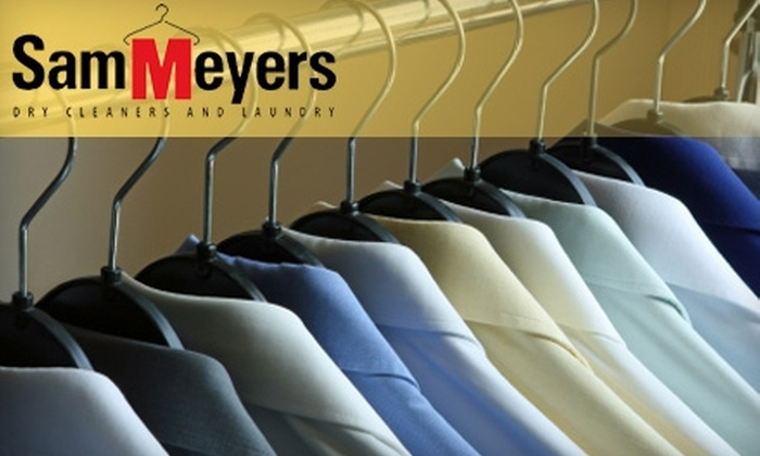 Sam Meyers Dry Cleaning and Laundry - Multiple Locations: $18 for $40 Worth of Dry Cleaning at Sam Meyers Dry Cleaning and Laundry. Choose from 12 Locations.