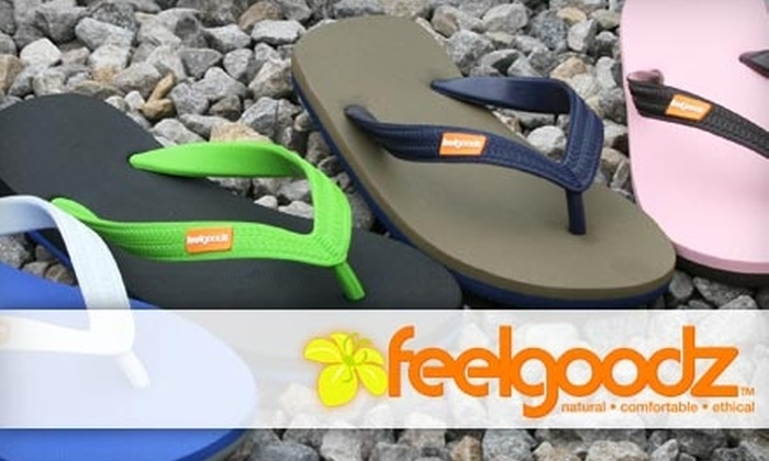Feelgoodz - Boston: $12 for One Pair of Flip-Flops Including Shipping from Feelgoodz ($30 Value)