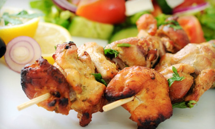 Cafe Istanbul - Multiple Locations: $14 for Two Mediterranean Dinner Entrees and One Appetizer for Two at Cafe Istanbul (Up to $35 Value)