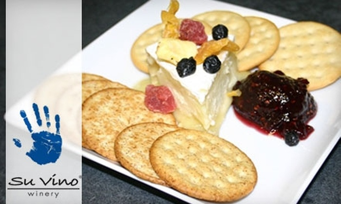 Su Vino Winery - Grapevine: $12 for a Tasting and Appetizer for Two at Su Vino Winery in Grapevine (Up to $25 Value)