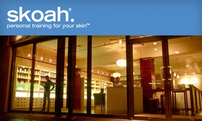 skoah - Multiple Locations: $64 for a Customized facialiscious facial and Sunscreen Product at skoah ($130 Value). Choose from two locations.