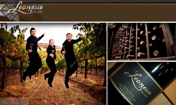 Leonesse Cellars - Murrieta: Tours for Two at Leonesse Cellars, Plus 15% Off in Gift Shop. Buy Here for a $33 Touch the Vine, Taste the Wine for two ($70 Value). See Below for Additional Tours and Prices.