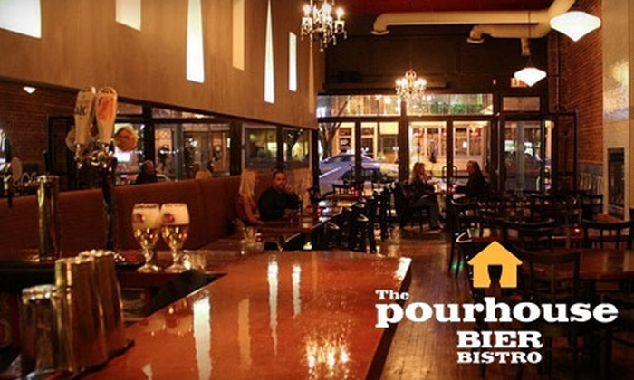 The Pourhouse Bier Bistro - Strathcona: $20 for $40 Worth of Drinks and Gastro Pub Fare at The Pourhouse Bier Bistro