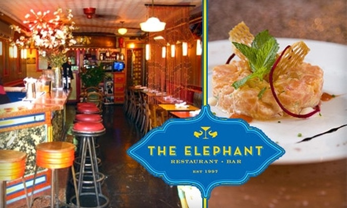 The Elephant - Bowery: $30 for $60 Worth of Thai-French Bistro Cuisine at The Elephant