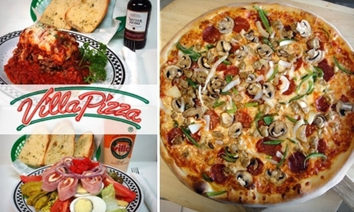 Villa Pizza - Rancho Oakey: $10 for $25 Worth of Pizza, Pasta, & More at Villa Pizza