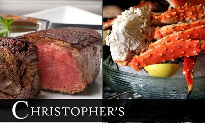 Christopher's Seafood & Prime Steak House - Rio Grande: $35 for $70 Worth of Fine Dining and Drinks at Christopher's Seafood & Prime Steak House