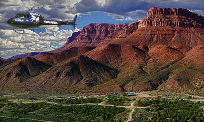 Heli USA Airways and Grand Canyon Ranch - Multiple Locations: Helicopter Flight, Tour, and Overnight Excursion to the Grand Canyon from Heli USA Airways (Up to 54% Off)