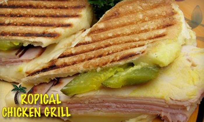 Tropical Chicken Grill - Eastside: $7 for $14 Worth of Cuban-Inspired Grill Cuisine and Drinks at Tropical Chicken Grill