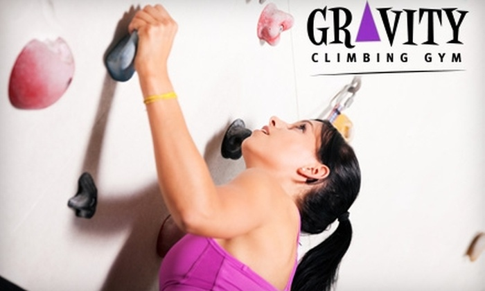 Gravity Climbing Gym - Kirkendall North: $19 for One Indoor Rock 101 Beginning Climbing Lesson at Gravity Climbing Gym ($38 Value)