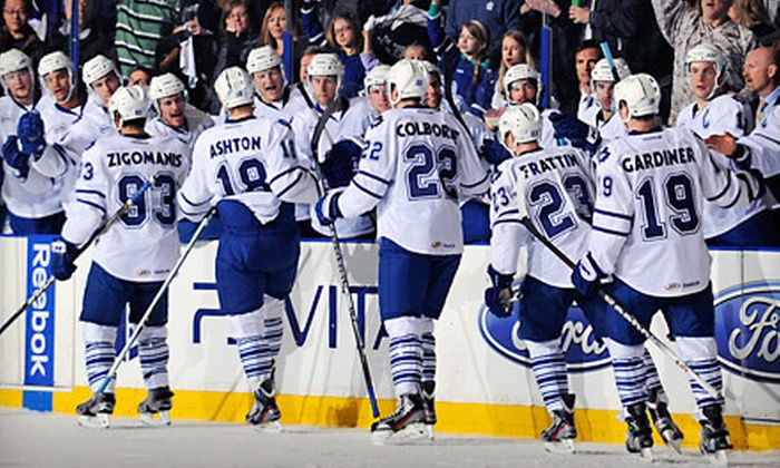 Toronto Marlies - Toronto: Toronto Marlies Round-Two Playoff Hockey Game at Ricoh Coliseum (Up to 39% Off). Two Games and Three Seating Options Available.