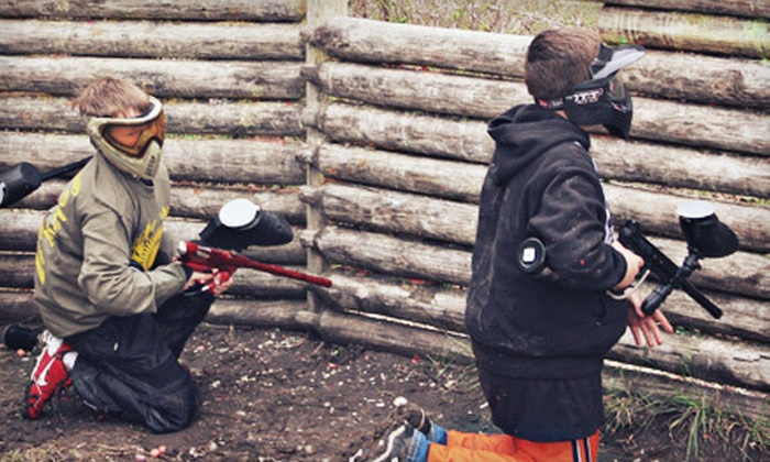 Frog Holler Paintball - Waco: Paintball Outing and Equipment Rental for One, Two, Three, or Four at The Edge Paintball Adventures (Up to 57% Off)