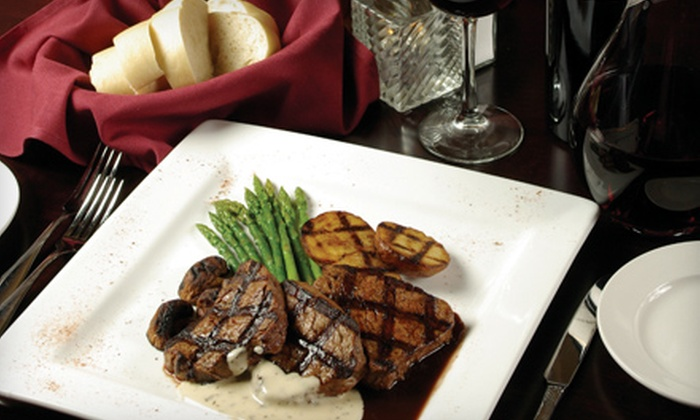 D'Canters - Wildomar: $30 for a Contemporary American Dinner for Two with Salad, Entrees, and Wine at D'Canters in Wildomar (Up to $65 Value)