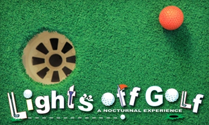 Lights Off Golf - Amarillo: $6 for Two Rounds of Minigolf at Lights Off Golf (Up to $12 Value)