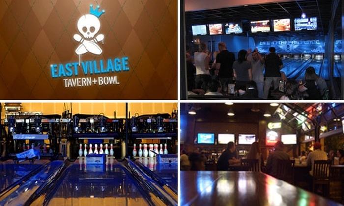 East Village Tavern & Bowl - East Village: 3 Games of Bowling at East Village Tavern + Bowl for Only $11