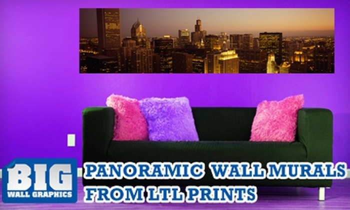 Larger Than Life Prints - Chicago: $35 for a Panoramic Wall Mural from Larger Than Life Prints