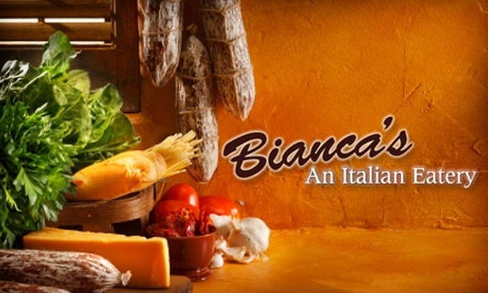Bianca's Italian Eatery - Brice Street Area: $15 for $30 Worth of Authentic Italian Cuisine at Bianca's Italian Eatery