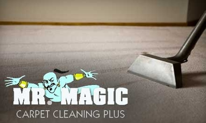 Mr. Magic Carpet Cleaning Plus - Downtown Wichita: $59 for Three Rooms and One Hallway Carpet Cleaning from Mr. Magic Carpet Cleaning Plus