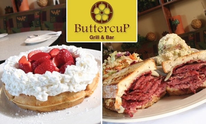 Buttercup - Multiple Locations: $10 for $20 Worth of American Fare and Drinks at Buttercup Grill & Bar