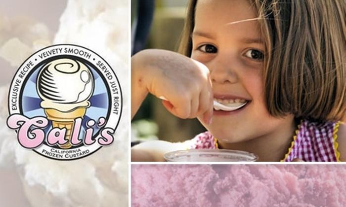 Cali's Frozen Custard - Woodward Park: $5 for $12 Worth of Premium Creamy Creations at Cali's Frozen Custard