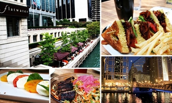 Flatwater - Near North Side: $20 for $50 Worth of Riverfront Feasting at Flatwater