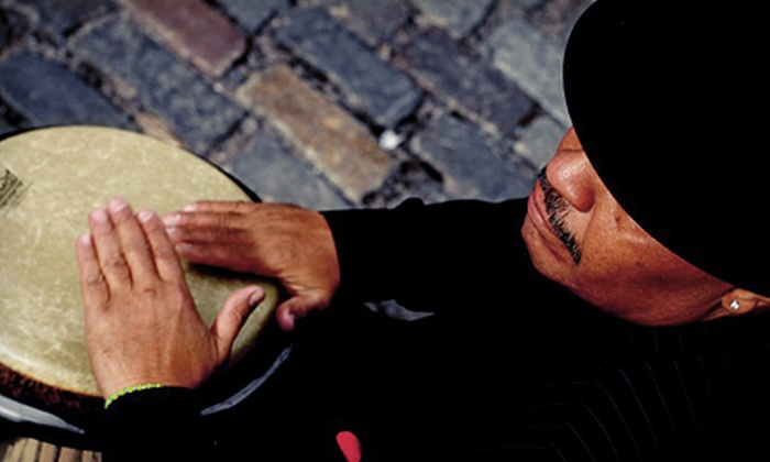 Chembo Corniel - East Village: $28 for Latin Jazz Experience with Chembo Corniel and Dinner at Drom ($59 Value). Four Shows Available.