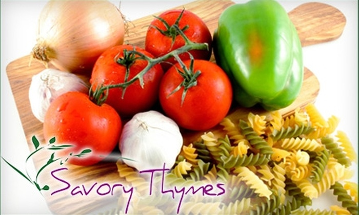 Savory Thymes: $35 for Three Chef-prepared Meals from Savory Thymes (Up to $78.70 Value)