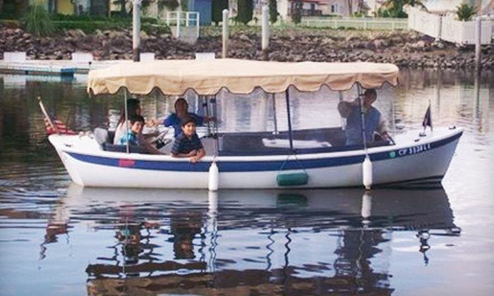 Hopper Boat Rentals - Hollywood: One-Hour Electric Boat Rental for 8, 10, or 12 People at Hopper Boat Rentals in Oxnard (Up to 51% Off)