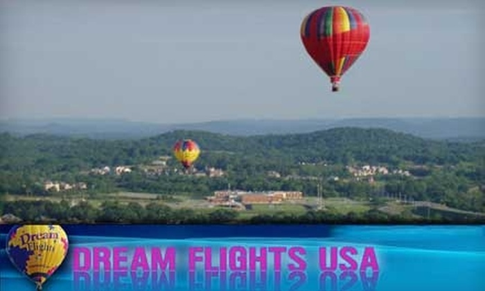 Dream Flights USA - Nashville: Hot-Air Balloon Ride from Dream Flights USA. Choose between Two Options.