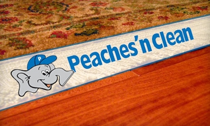 Peaches 'n Clean - Montgomery: Floor, Rug, or Upholstery Cleaning from Peaches 'n Clean. Choose Between Two Options.