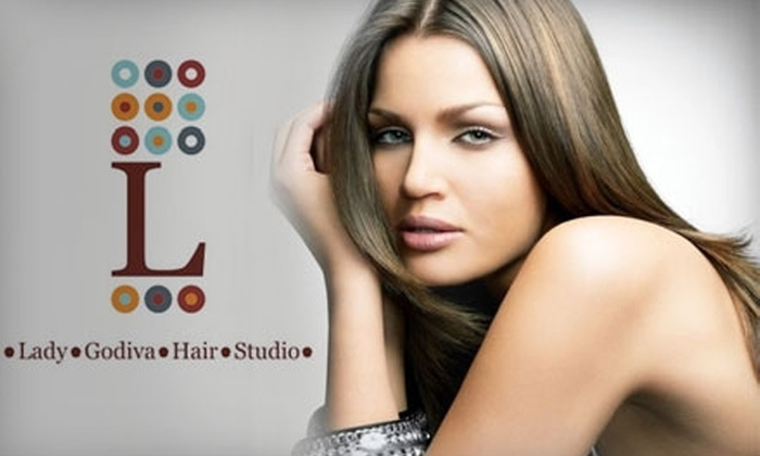 Lady Godiva Hair Studio - Southeast Colorado Springs: $30 for a Shampoo, Haircut, Style, and PM Shines Treatment at Lady Godiva Hair Studio