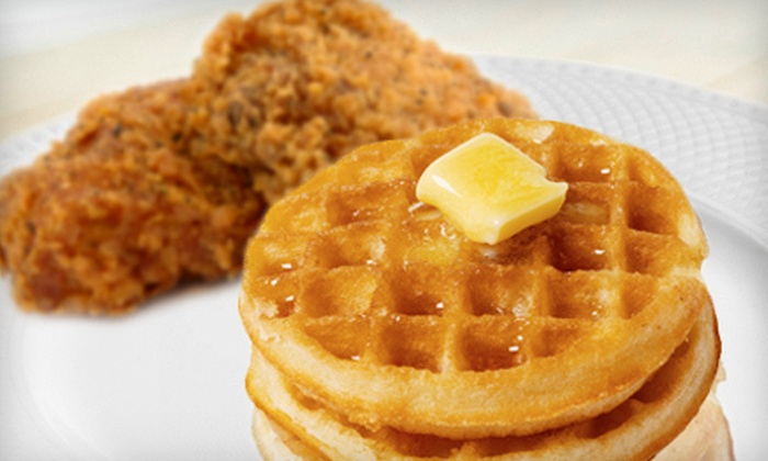 Roscoe's Joint - Virginia Lake: Chicken-and-Waffles Meal or Ribs Meal for Two at Roscoe's Joint (Up to 56% Off)