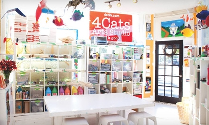 4Cats Arts Studio - West Kelowna: $20 for Two Children's Art Workshops at 4Cats Arts Studio (Up to $40 Value)